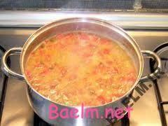 روش پخت آش گوجه فرنگی