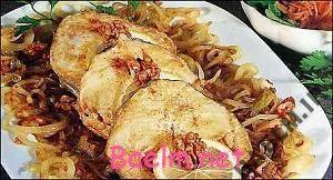 روش پخت ماهی و گردو