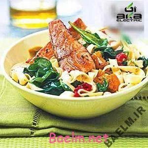 روش پخت خوراک ماهی با سبزیجات
