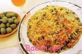 روش پخت هویج پلوی شیرازی