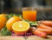 طرز تهیه آب هویج پرتقال