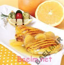 طرز تهیه استيک مرغ با سس پرتقال و انبه