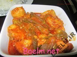 طرز تهیه خورشت بامیه با مرغ و گوشت