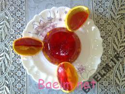 طرز تهیه ژله پرتقال و گلابی