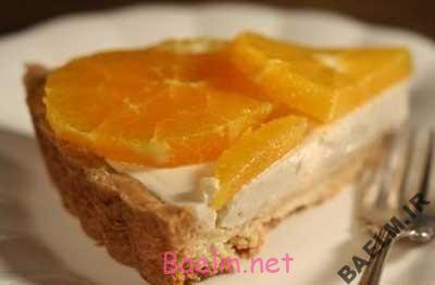 طرز تهیه تار پنیر زنجبیلی وپرتقال