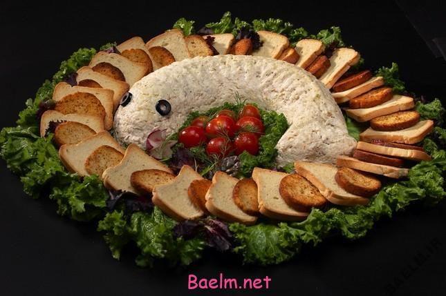 طرز تهیه سالاد ماهی سفيد   سالاد با ماهی سفید