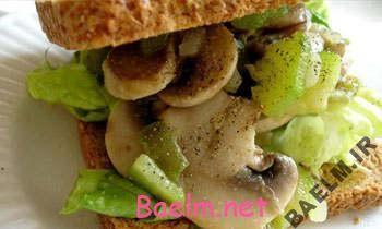 طرز تهیه ساندویچ قارچ کبابی