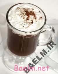 طرز تهیه نوشیدنی شکلات و خامه