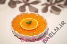 طرز تهیه پودینگ پرتقال