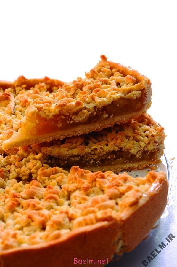 طرز تهیه کیک سیب کرامبل