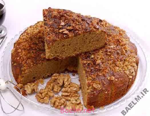 طرز تهیه کیک گردویی