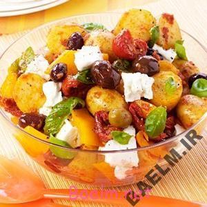 طرز تهیه سیب زمینی یونانی