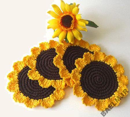 مدلهای گل آفتابگردان،گل آفتابگردان،قلاب بافی،آموزش قلاب بافی
