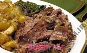 طرز پخت گوشت بره با سبزيجات