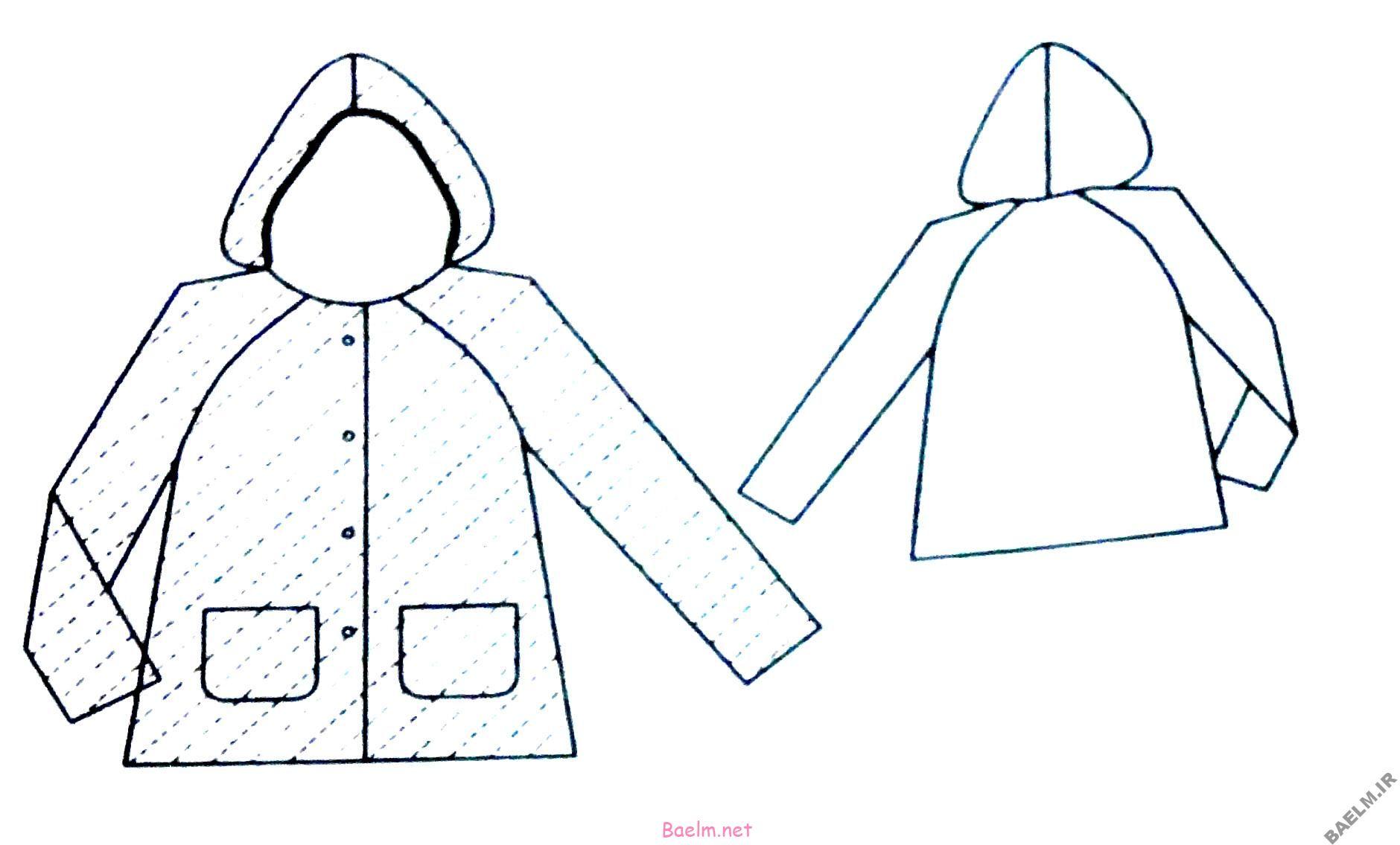 آموزش خياطي | دوخت باراني دخترانه + الگو