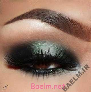آرايش و زيبايي | آرايش چشم به رنگ سبز دودي (تصويري)