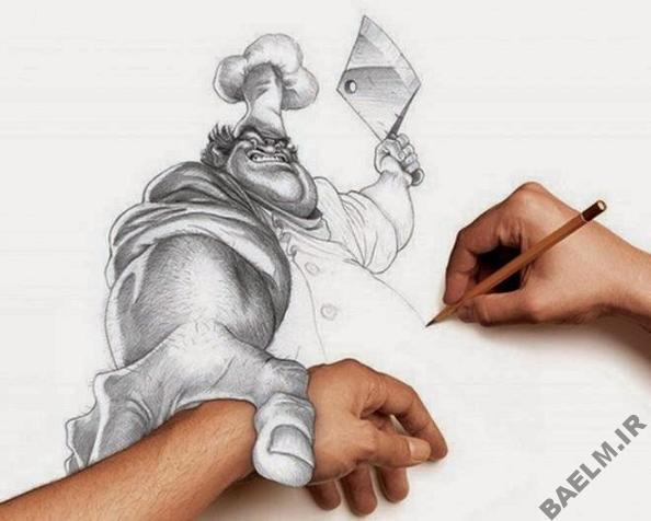 funny amazingly detailed art drawings 1 9 نقاشی خنده دار و زیبا