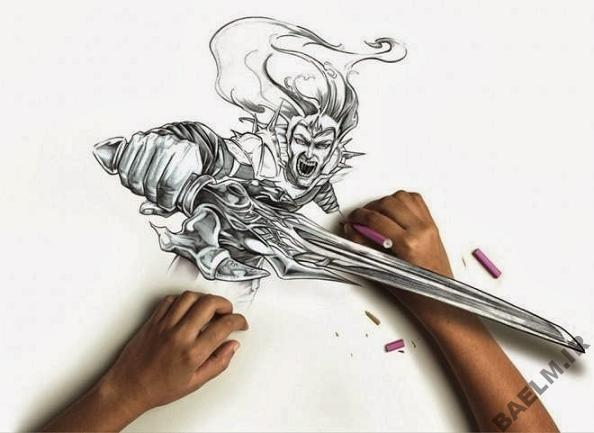 funny amazingly detailed art drawings 6 9 نقاشی خنده دار و زیبا
