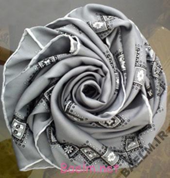 تزئينات عقد و عروسي | درست كردن روسري عروس به شكل گل رز زيبا