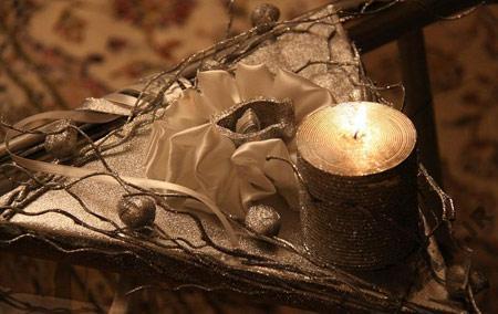تزیین جای حلقه,جای حلقه عروس و داماد