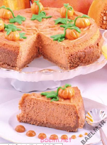 انواع کیک | طرز تهیه چیز کیک کدو حلوایی