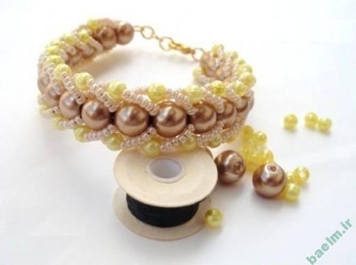 هنر خانه داري | آموزش ساخت دستبند خوشگل دخترانه به صورت تصويري