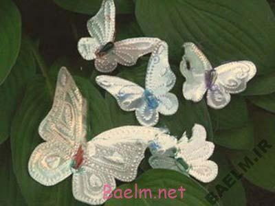 هنر خانه داری   آموزش ساخت پروانه های آلومینیومی