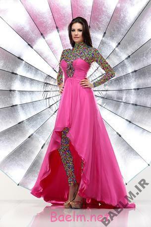 مد و زیبایی   مدل های رنگارنگ لباس مجلسی