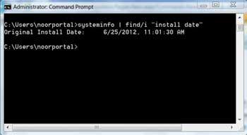 نرم افزار | فهمیدن زمان نصب ویندوز از طریق CMD