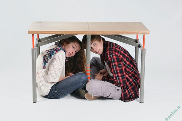 علم و فناوری | میز ضد زلزله برای مدارس ساخته شد