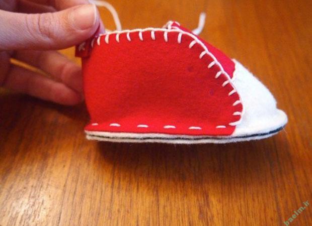 خياطي | آموزش دوخت كفش كوچولوي بچه گانه با الگو + تصوير قدم به قدم