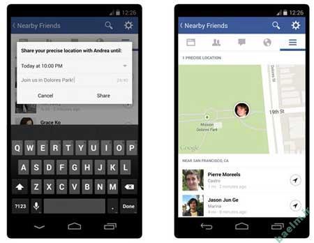 کامپیوتر و اینترنت | امکان Nearby Friends  در فیسبوک