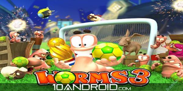 دانلود بازي اندرويد | بازی زیبا و خاطره انگیز کرم ها ۳ Worms 3 v1.80