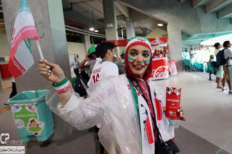 لیندا کیانی در بازی ایران و بوسنی