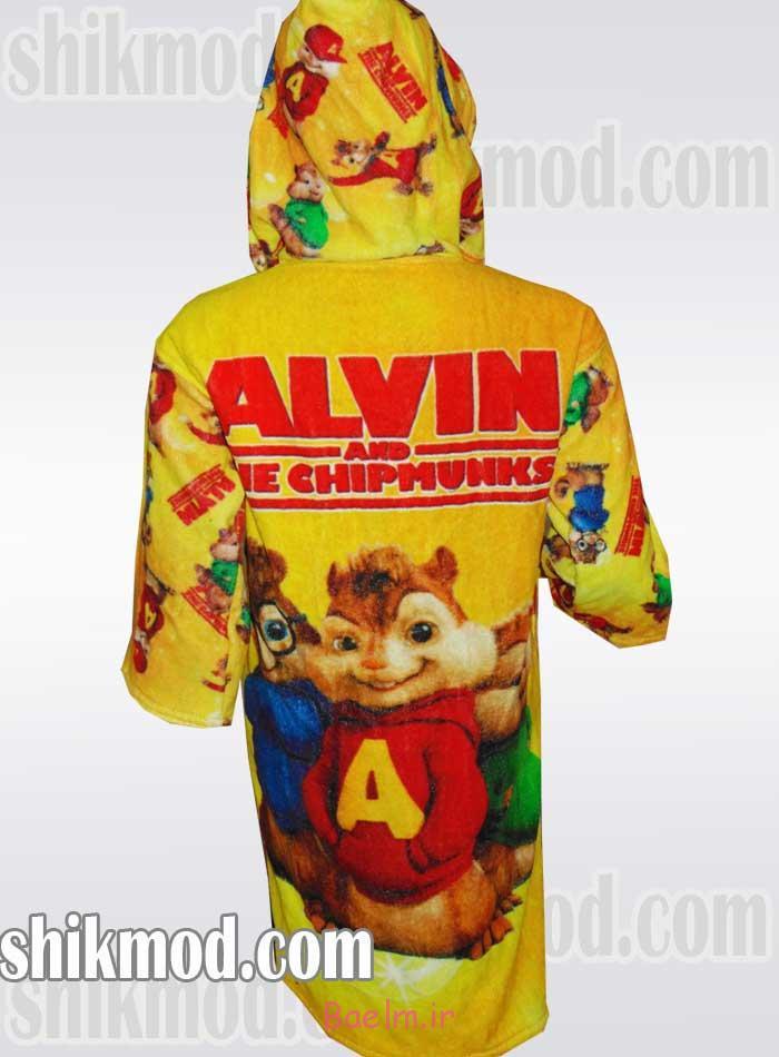 """""""حوله"""" - حوله بچه گانه تمام چاپ دیجیتال طرح آلوین"""