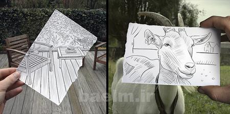 عكس | تصاوير جالب از هنر تركيب عكس با نقاشي   superiga