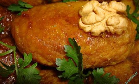آموزش آشپزي | طرز تهيه هلو كباب ( كوفته مخصوص كرمانشاهي )