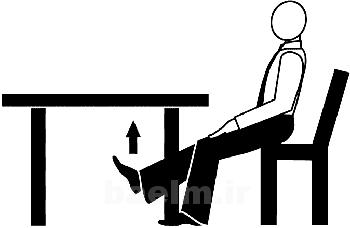 حرکات ورزشی,تمرینات ورزشی به صورت نشسته,حرکات ورزشی برای کارمندان