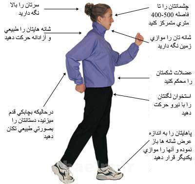 ورزش و سلامت | كم كردن سايز دور كمر با كمك پياده روي
