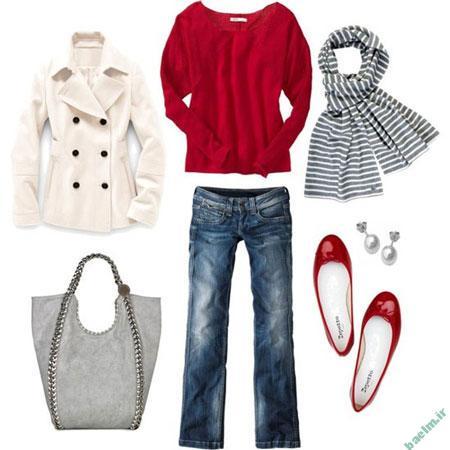 انتخاب رنگ قرمز لباس,راهنمای انتخاب رنگ لباس