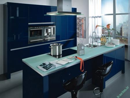 مدل آبی آشپزخانه