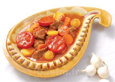 آموزش آشپزی | طرز تهیه خوراك تاس كباب