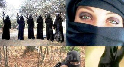 عکس | عکس های زنان وحشی و خونریز گروهک تروریستی داعش