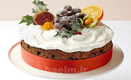 آموزش آشپزی   طرز تهیه کیک میوه ای کلاسیک
