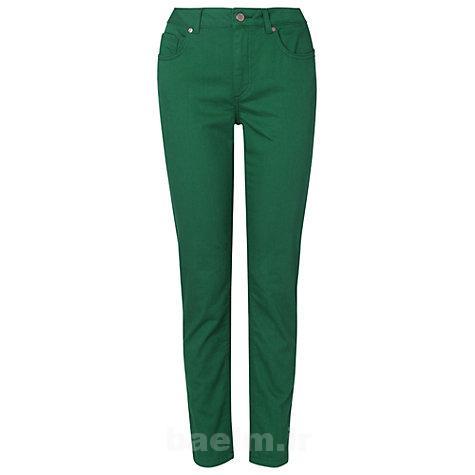 مدل شلوار جین زنانه سبز رنگ