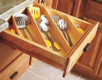 جمع کردن وسایل آشپزخانه , استفاده های بهینه از کابینت ها