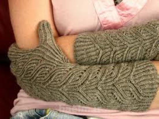 مدل دستکش و ساق دست بافتنی