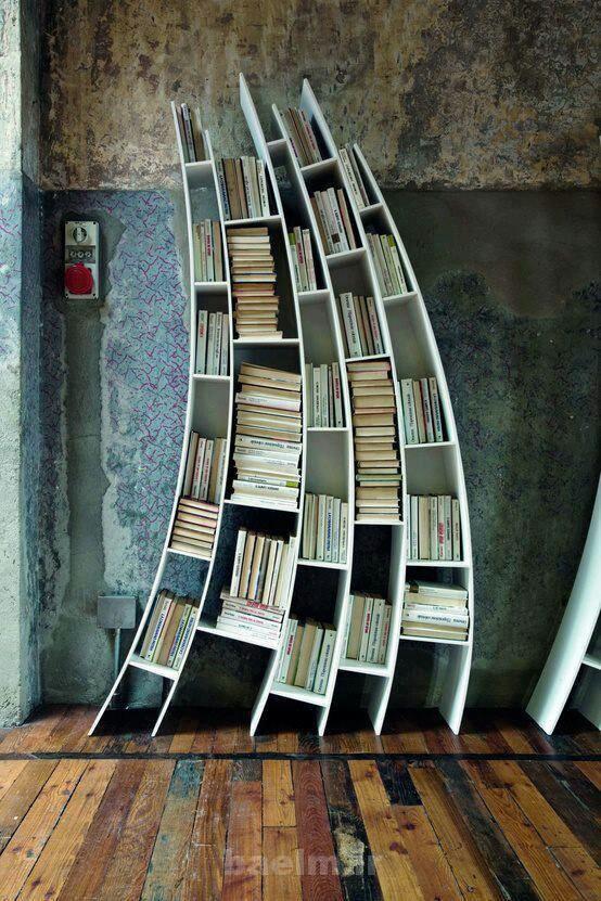 طراحی و دکوراسیون   عکسهایی از قفسه کتاب( بسیار جالب)