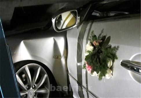 کشته شدن عروس در حادثه سقوط ماشین به دره