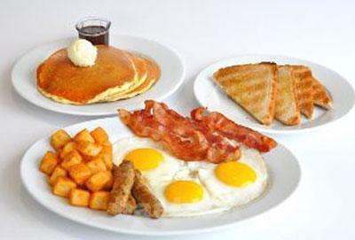 طرز تهیه انواع صبحانه های گرم,پخت صبحانه های سه سوته